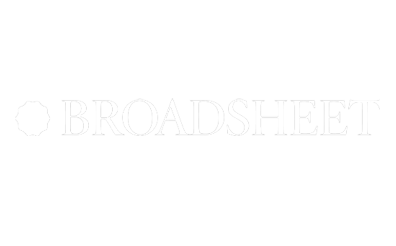 broadsheet logo reporting on socialtable